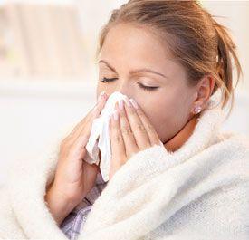 Симптомы простуды.